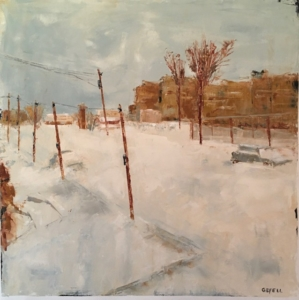 After the Storm (oil on oil paper) by artist Kathleen Gefell, New York