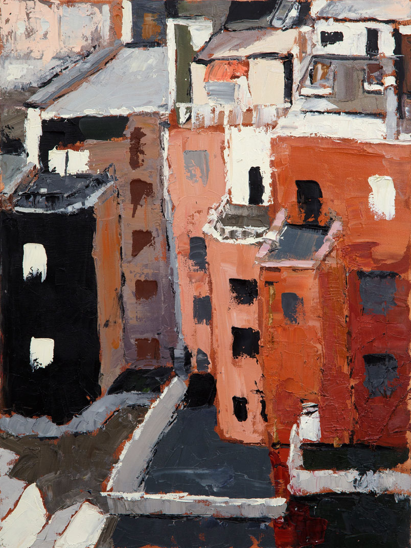 Apartments (oil on canvas) by artist Kathleen Gefell, New York