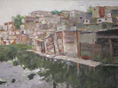 Ruins (oil on canvas) by artist Kathleen Gefell, New York