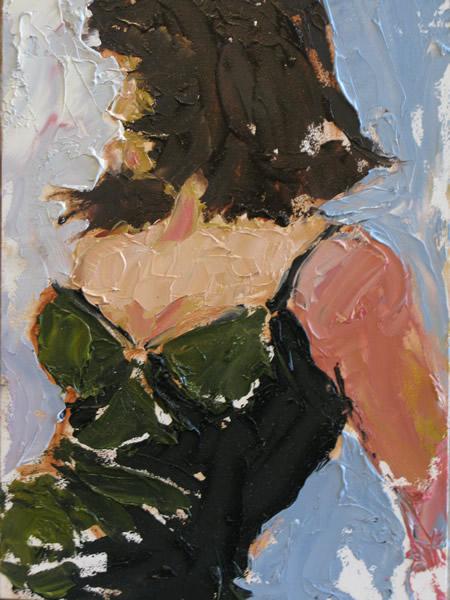 Monica (oil on canvas) by artist Kathleen Gefell, New York