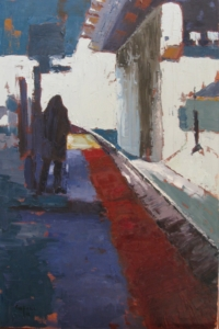 Silhouette (oil on canvas) by artist Kathleen Gefell, New York