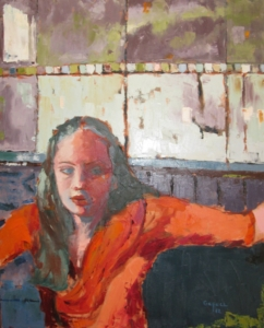 The Muse (oil on canvas) by artist Kathleen Gefell, New York