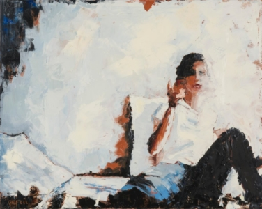 Angie (oil on canvas) by artist Kathleen Gefell, New York