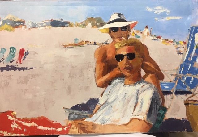 Beach Boys (oil on canvas) by artist Kathleen Gefell, New York