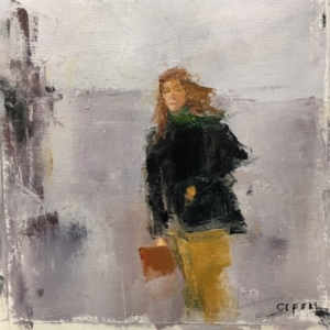 Girl (oil on paper) by artist Kathleen Gefell, New York