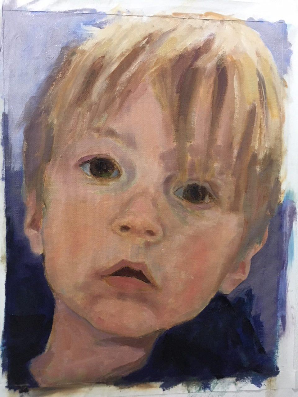 Isaiah (oil on canvas) by artist Kathleen Gefell, New York