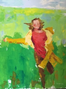 Joy (oil on canvas) by artist Kathleen Gefell, New York