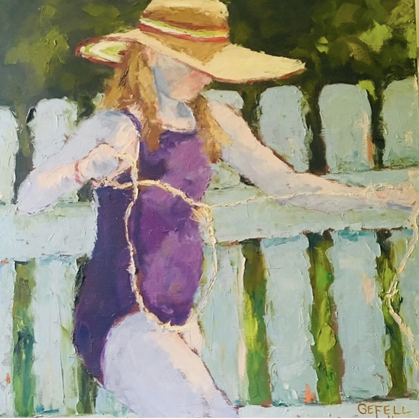 Lily (oil on canvas) by artist Kathleen Gefell, New York