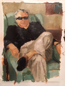 Ron (oil on canvas) by artist Kathleen Gefell, New York