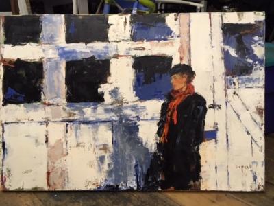 Sharon (oil on canvas) by artist Kathleen Gefell, New York