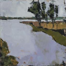 Around the Bend (oil on canvas) by artist Kathleen Gefell, New York