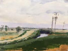 Bridge: Boulder Colorado (oil on canvas) by artist Kathleen Gefell, New York