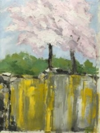 Gary's Tree (oil on canvas paper) by artist Kathleen Gefell, New York