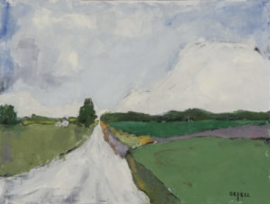 Road to John's (oil) by artist Kathleen Gefell, New York