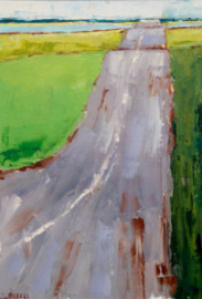 Road Up (oil on canvas) by artist Kathleen Gefell, New York