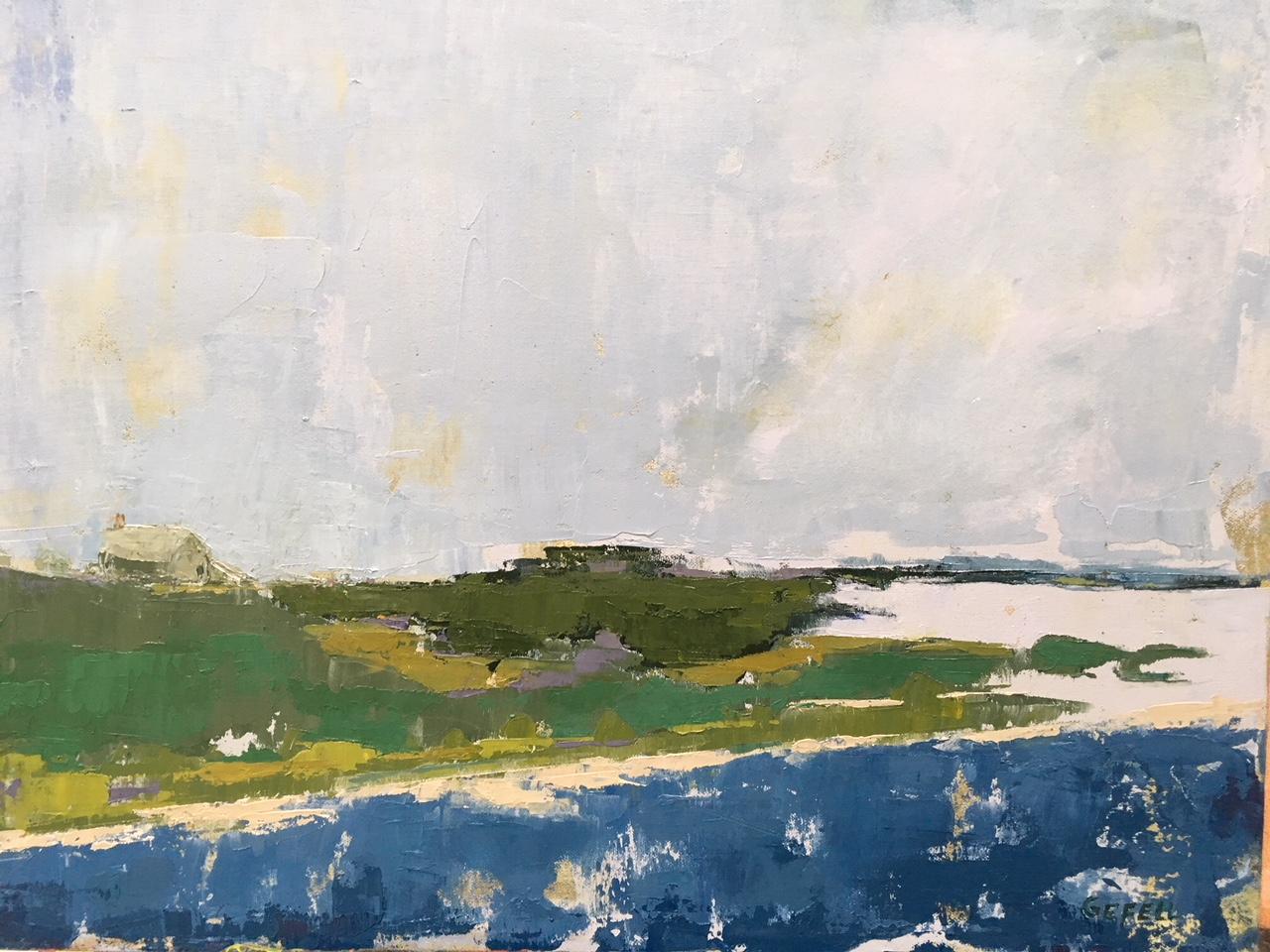 Solitude (oil on canvas) by artist Kathleen Gefell, New York