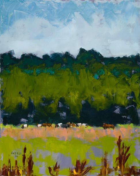 Berkshire Field (oil on canvas) by artist Kathleen Gefell, New York