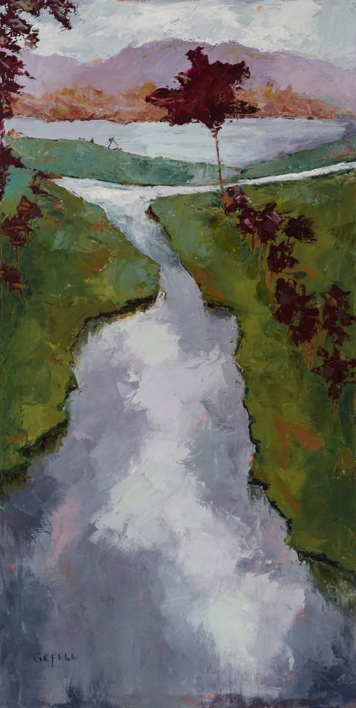 Creek (oil on canvas) by artist Kathleen Gefell, New York