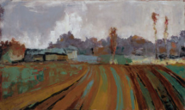 Furrows (oil on canvas) by artist Kathleen Gefell, New York
