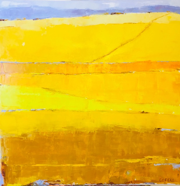 Golden Fields (oil on canvas) by artist Kathleen Gefell, New York