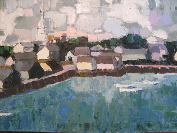 Nantucket Harbor  (oil on canvas) by artist Kathleen Gefell, New York