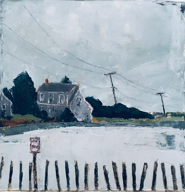 Nantucket Winter (oil on oil paper) by artist Kathleen Gefell, New York