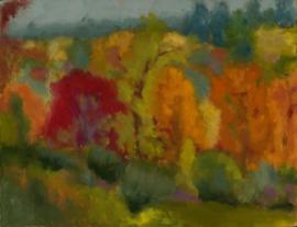 Stockbridge (oil on canvas) by artist Kathleen Gefell, New York