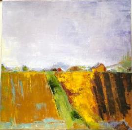 Brae:Portland (oil on canvas) by artist Kathleen Gefell