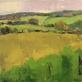 Clove Valley (oil on oil paper) by artist Kathleen Gefell