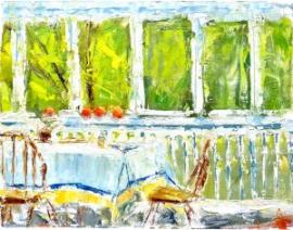 Porch (oil on canvas) by artist Kathleen Gefell