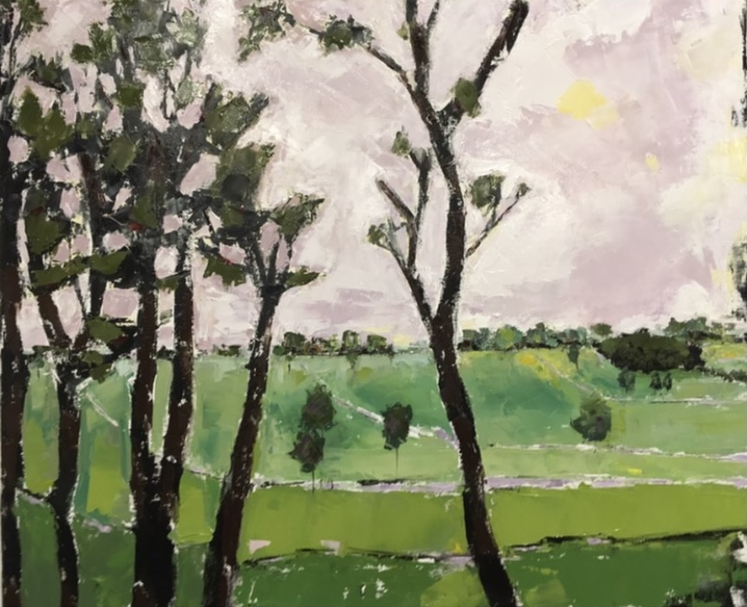 Through the Trees (oil on canvas) by artist Kathleen Gefell