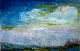 Twilight (oil on canvas paper) by artist Kathleen Gefell