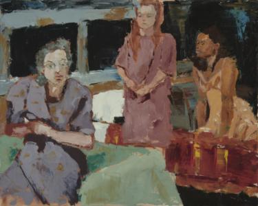 Trio  (oil on canvas) by artist Kathleen Gefell, New York