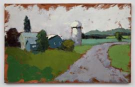 Blue Farm  (oil on canvas) by artist Kathleen Gefell, New York