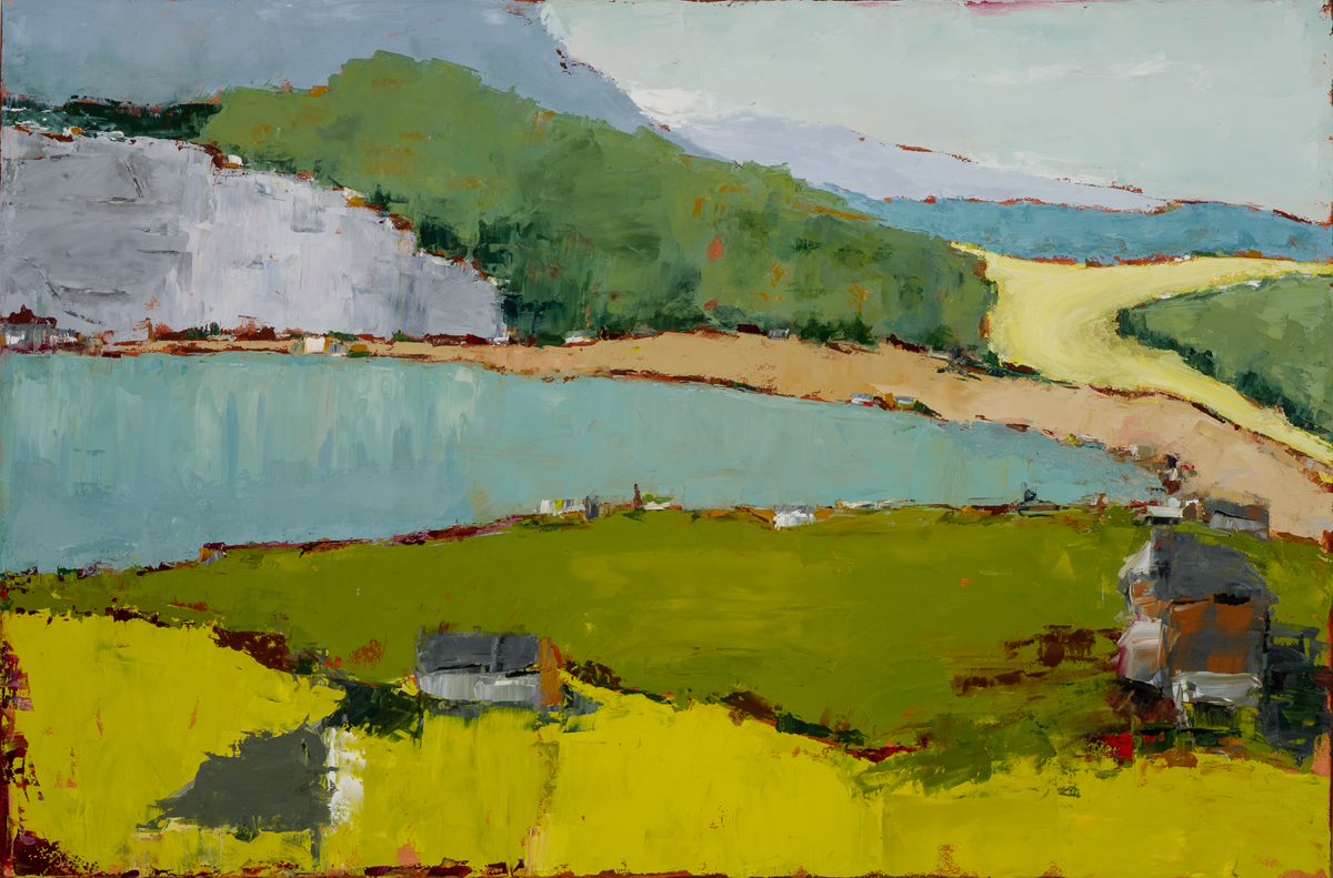 Lakeside  (oil on canvas) by artist Kathleen Gefell, New York