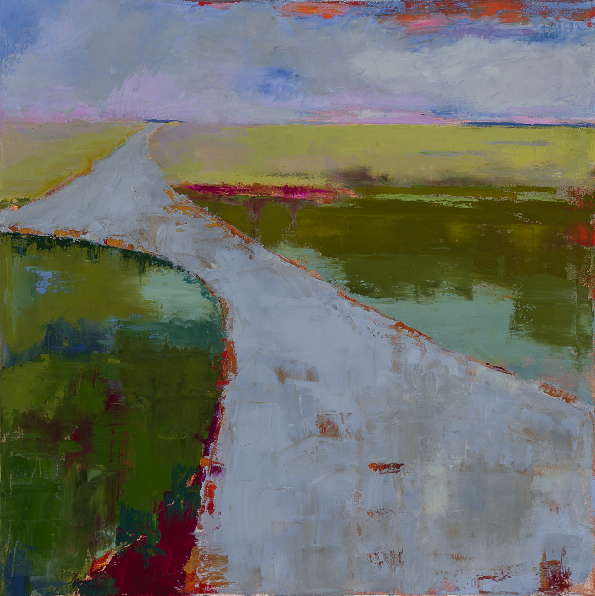 Road to the Sea  (oil on canvas) by artist Kathleen Gefell, New York